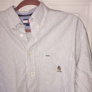 Men's Pinstripe Tommy Hilfiger Button Down Shirt
